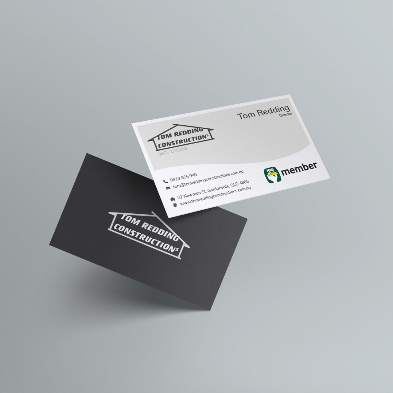 Tom Redding Constructions Business Cards
