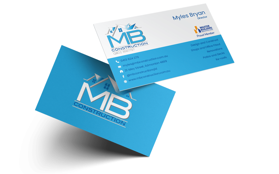 MB Construction Business Cards