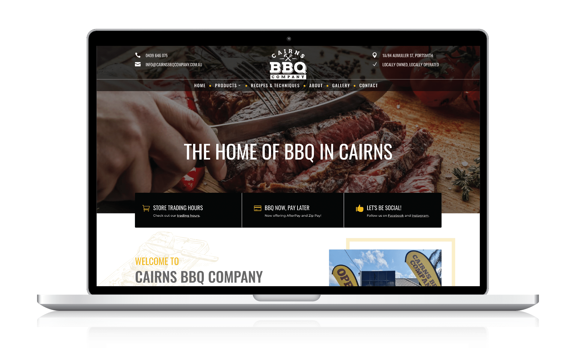 Cairns BBQ Company Website